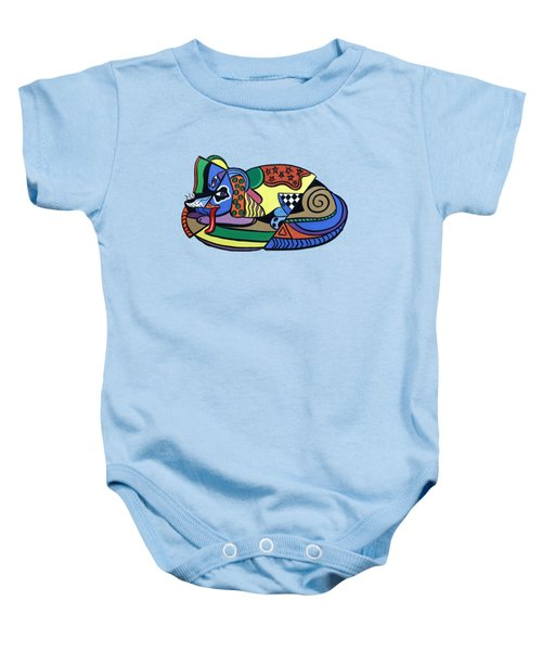 A Dog Named Picasso T-shirt Baby Onesie by Anthony Falbo