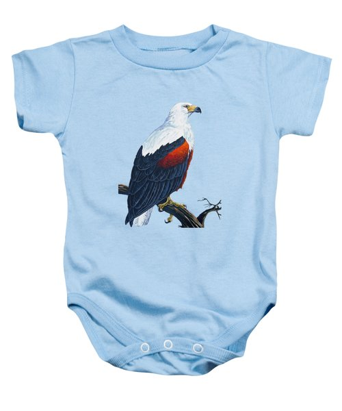 African Fish Eagle Baby Onesie by Anthony Mwangi