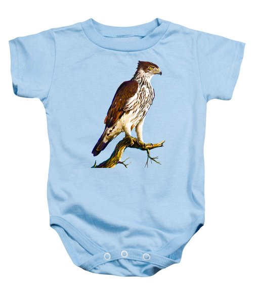 African Hawk Eagle Baby Onesie by Anthony Mwangi
