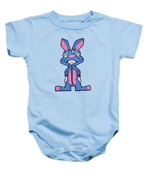 Bizarre Bunny Mascot Baby Onesie by Bizarre Bunny