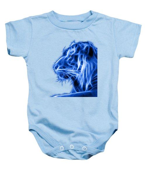 Blue Tiger Baby Onesie by Shane Bechler