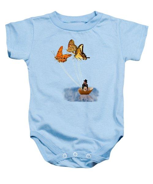 Butterfly Sailing Baby Onesie by Linda Lees