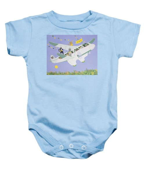 Cat Air Show Baby Onesie by Pat Scott