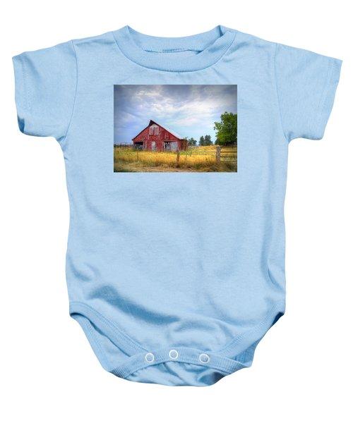 Christian School Road Barn Baby Onesie by Cricket Hackmann