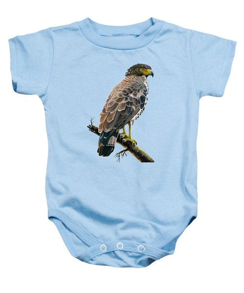 Congo Serpent Eagle Baby Onesie by Anthony Mwangi