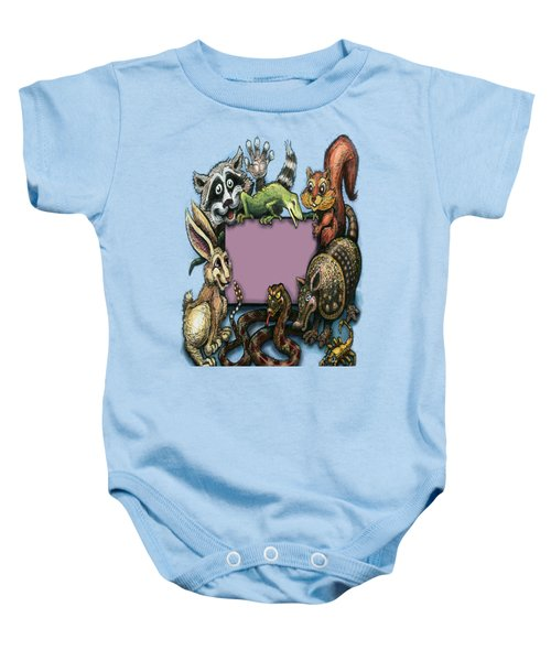 Critters Baby Onesie by Kevin Middleton