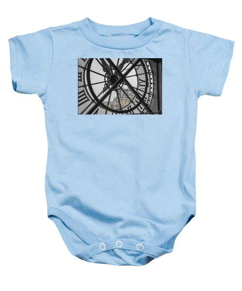 D'orsay Clock Paris Baby Onesie by Joan Carroll