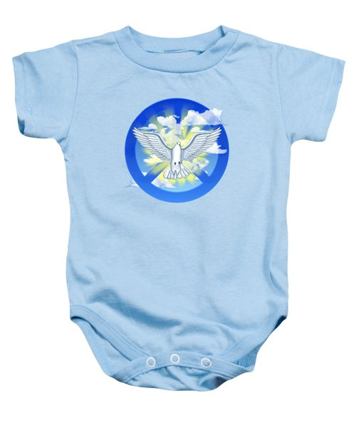 Dove Of Peace Baby Onesie by Chris MacDonald