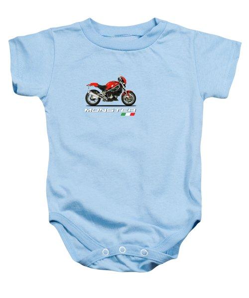 Ducati Monster S4 Sps Baby Onesie by Mark Rogan