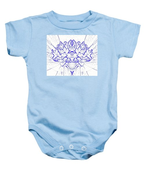 Floral Abstract No. 1-1 Baby Onesie by Sandy Taylor