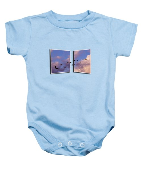 Flying Across Baby Onesie by Roger Wedegis