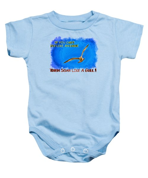 Flying Gull Baby Onesie by John M Bailey