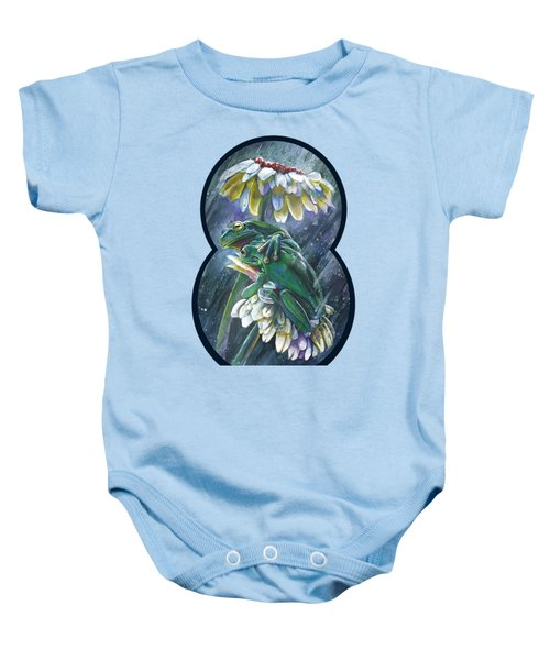 Frogs- Optimized For Shirts And Bags Baby Onesie by Michael Volpicelli
