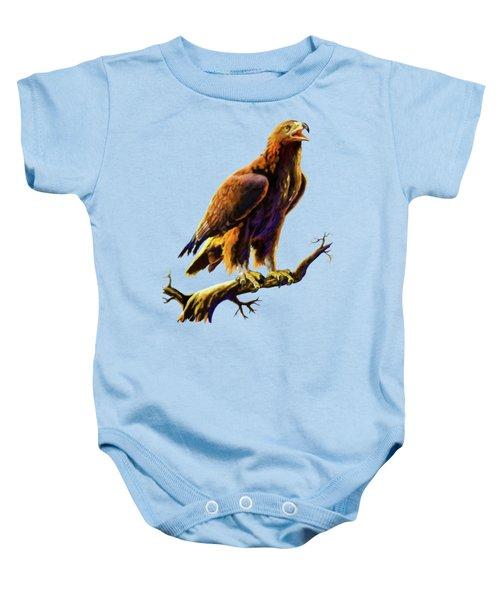 Golden Eagle Baby Onesie by Anthony Mwangi