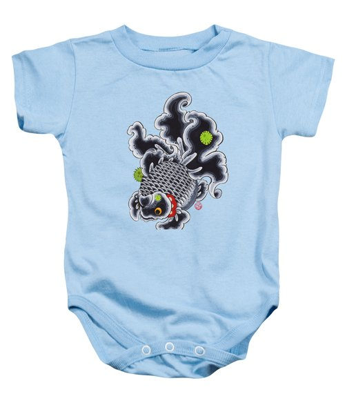 Goldfish Black Baby Onesie by Shih Chang Yang