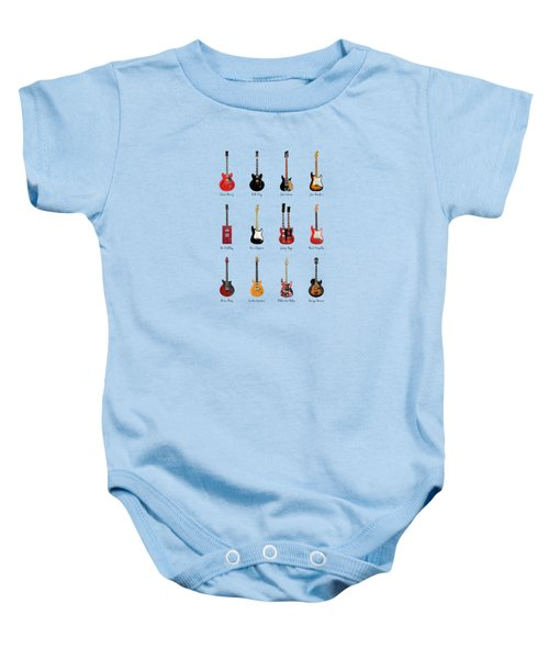 Guitar Icons No1 Baby Onesie by Mark Rogan