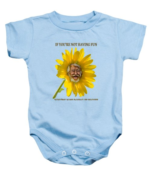 Having Fun Baby Onesie by Rick Mosher