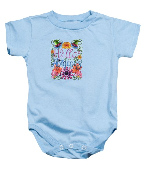 Hello Gorgeous Plus Baby Onesie by Shelley Wallace Ylst
