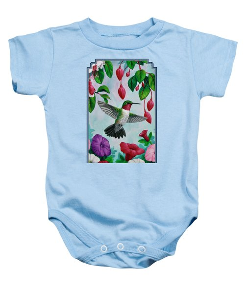 Hummingbird Greeting Card 2 Baby Onesie by Crista Forest