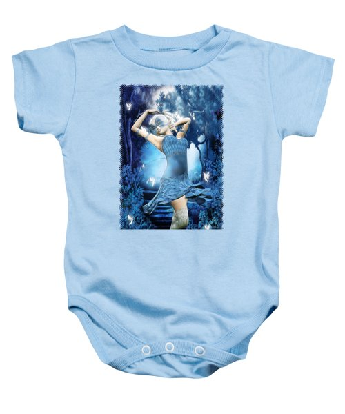 Lady Blue Fantasy Art Baby Onesie by Sharon and Renee Lozen
