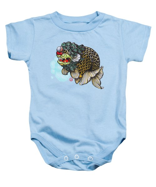 Lion Head Ranchu Baby Onesie by Shih Chang Yang