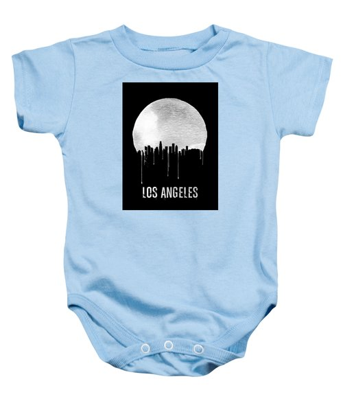 Los Angeles Skyline Black Baby Onesie by Naxart Studio