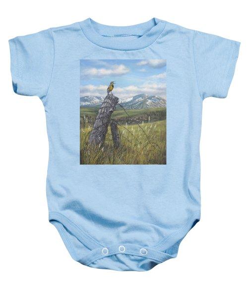 Meadowlark Serenade Baby Onesie by Kim Lockman