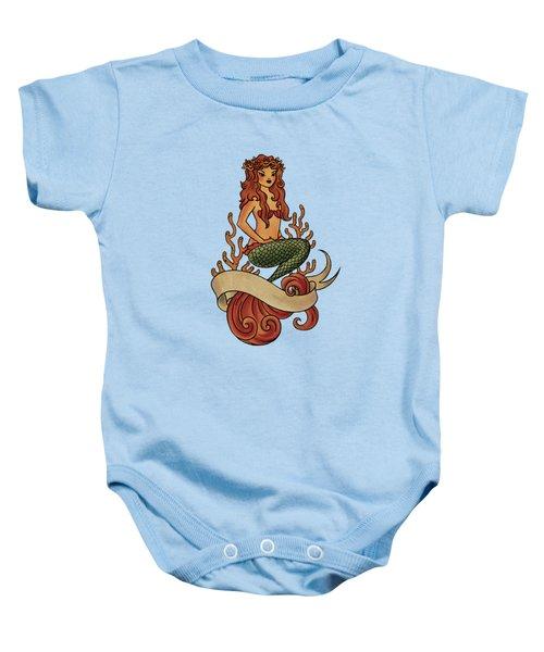 Mermaid Baby Onesie by Susan Wall