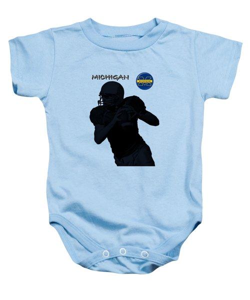 Michigan Football  Baby Onesie by David Dehner