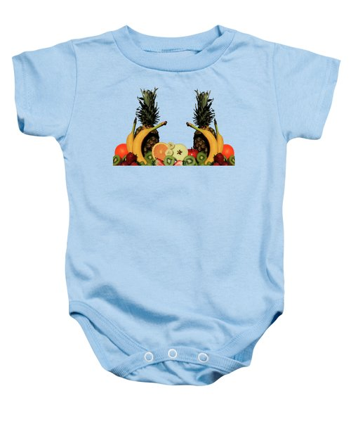 Mixed Fruits Baby Onesie by Shane Bechler