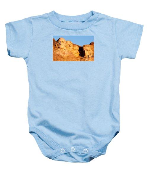 Mount Rushmore Baby Onesie by Todd Klassy