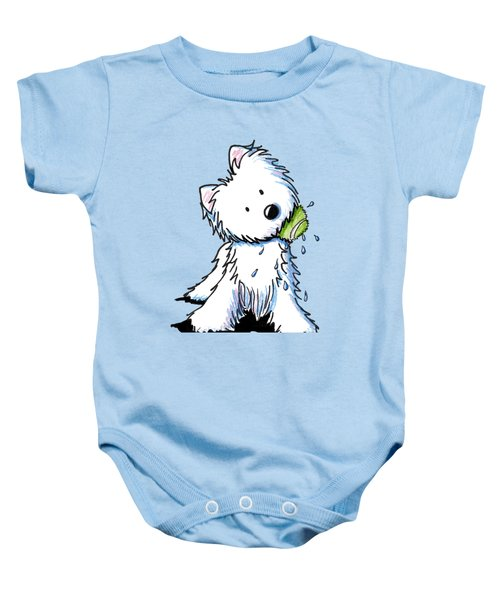My Ball My Rules Baby Onesie by Kim Niles