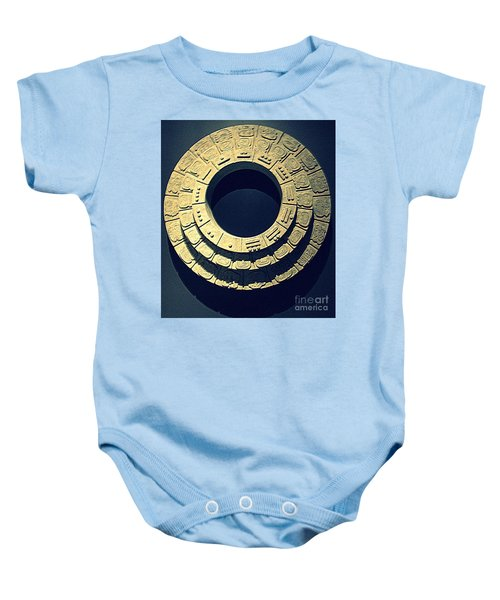National Museum Of The American Indian 10 Baby Onesie by Randall Weidner