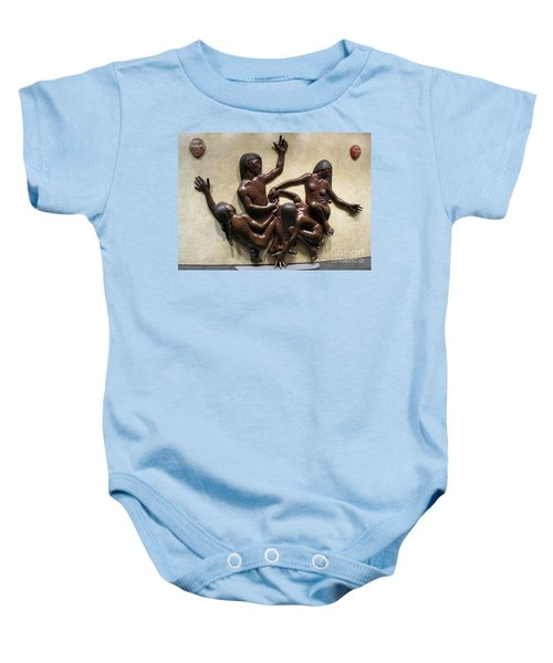 National Museum Of The American Indian 6 Baby Onesie by Randall Weidner