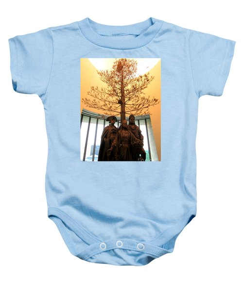 National Museum Of The American Indian 7 Baby Onesie by Randall Weidner