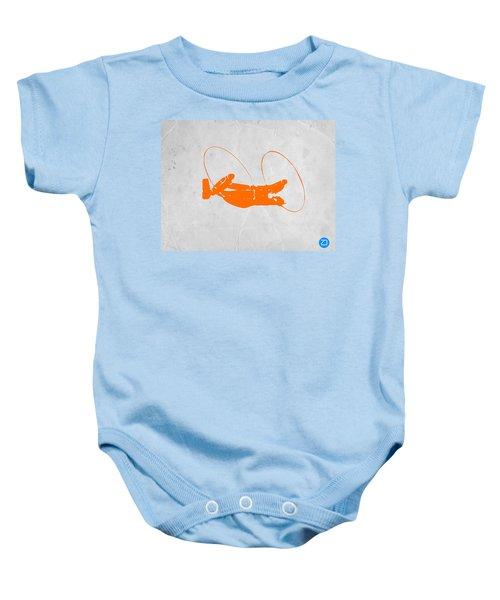 Orange Plane Baby Onesie by Naxart Studio