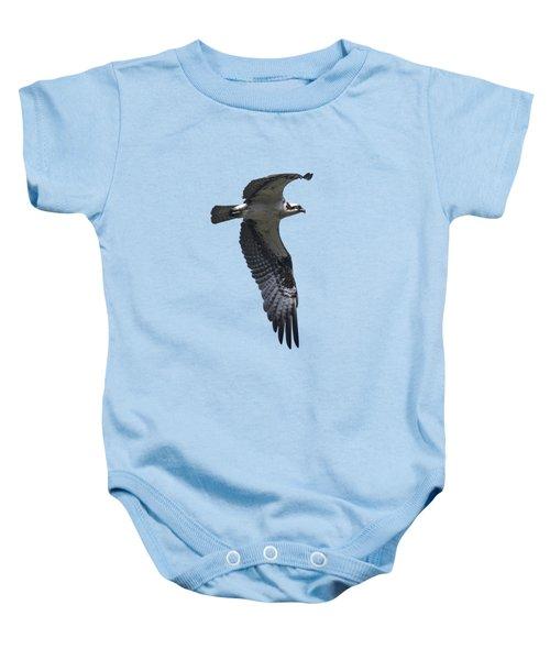 Osprey In Flight 2 Baby Onesie by Priscilla Burgers