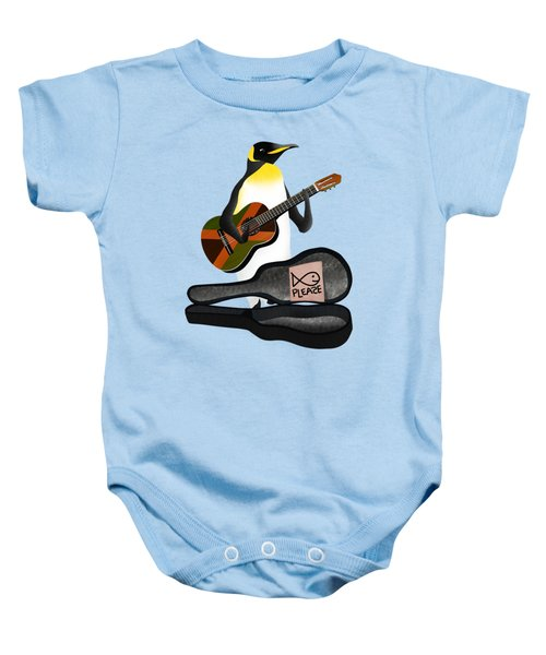 Penguin Busker Baby Onesie by Early Kirky