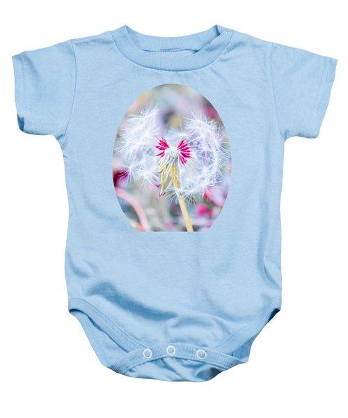 Pink Dandelion Baby Onesie by Parker Cunningham