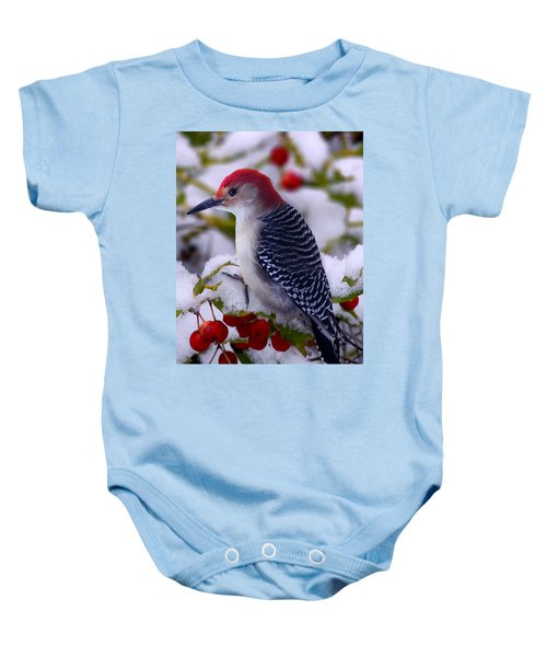 Red Bellied Woodpecker Baby Onesie by Ron Jones