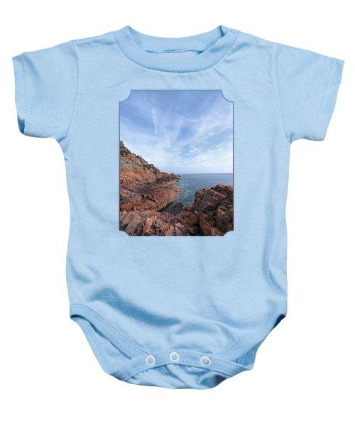 Rocky Ocean Inlet - Jersey Baby Onesie by Gill Billington