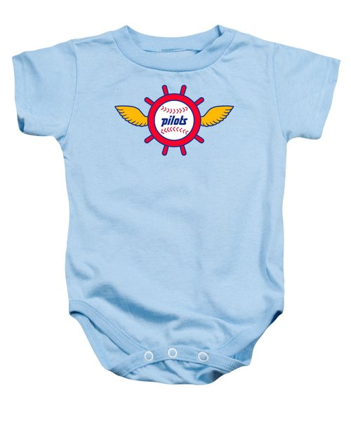 Seattle Pilots Retro Logo Baby Onesie by Spencer McKain