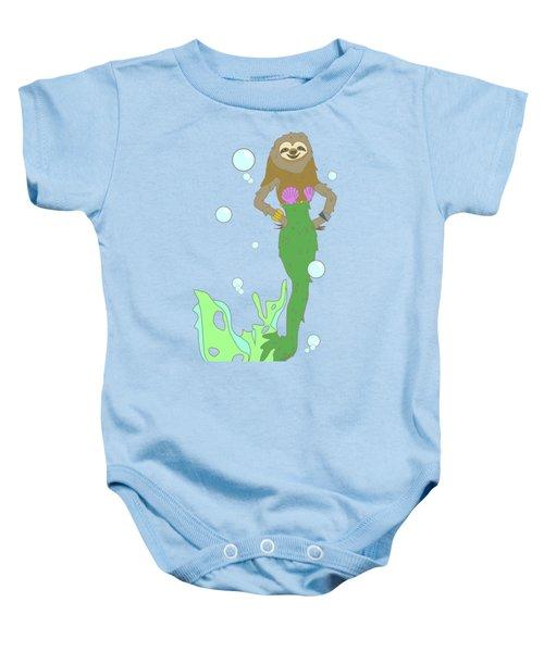 Sloth Mermaid Baby Onesie by Notsniw Art