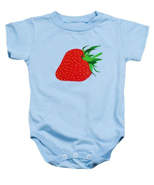 Strawberry Pop Remix Baby Onesie by Oliver Johnston