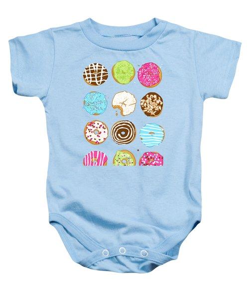 Sweet Donuts Baby Onesie by Evgenia Chuvardina