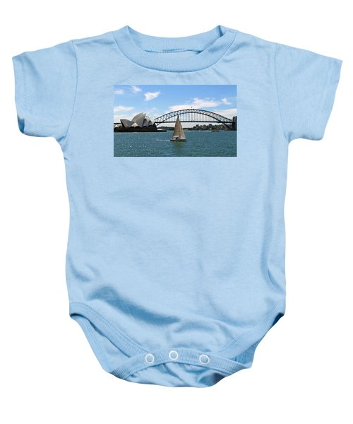Sydney Harbour No. 1 Baby Onesie by Sandy Taylor