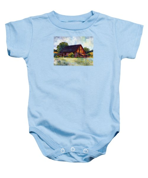 This Old Barn Baby Onesie by Hailey E Herrera