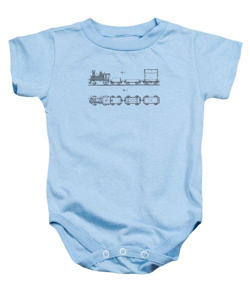 Toy Train Tee Baby Onesie by Edward Fielding