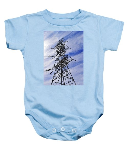 Transmission Tower No. 1 Baby Onesie by Sandy Taylor