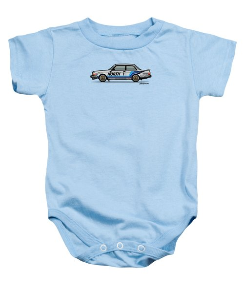Volvo 240 242 Turbo Group A Homologation Race Car Baby Onesie by Monkey Crisis On Mars